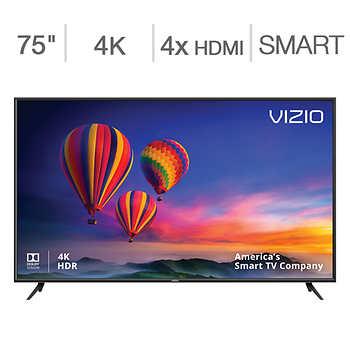 """Vizio 75"""" Class (74.5"""" Diag.) 4K Ultra HD LED LCD TV. $949.99 + FS (Costco)"""