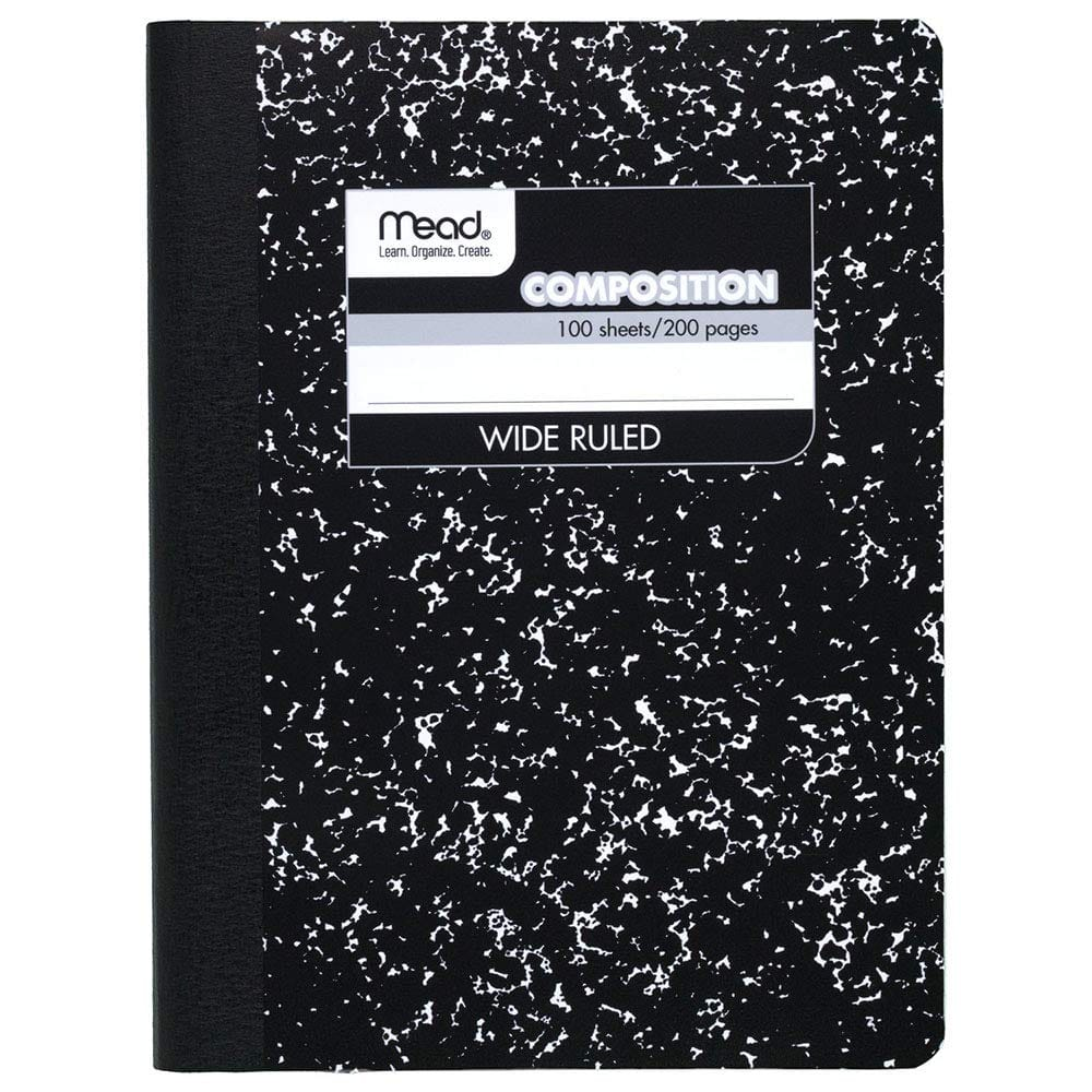 Mead Composition Book/Notebook, Wide Ruled Paper, 100 Sheets $0.50 @ Amazon