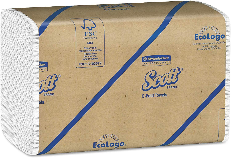 Case of 12 Packs (200 per Pack) Scott 01510 C-Fold Towels. $26.35 or Less + FS w/Prime