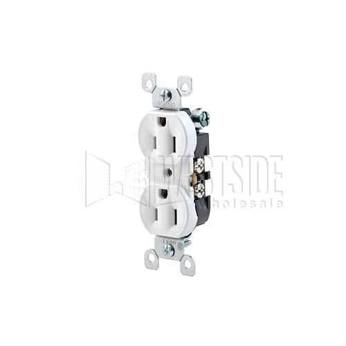 Leviton 5320-WCP 15 Amp, 125 Volt, Duplex Receptacle, Residential Grade, Grounding, All Screws Backed Out, Contractor Pack, White or Black. $0.68 (Amazon)