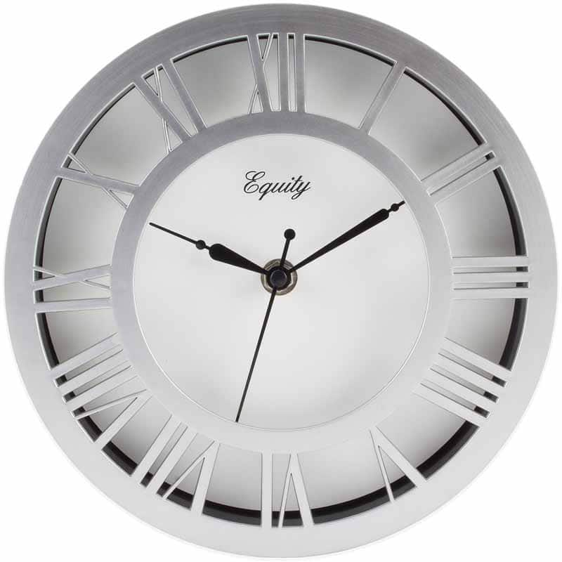 "Equity 8"" Round Nickel Colored Plastic Case, Raised Dial $2.99 (Frys) YMMV"