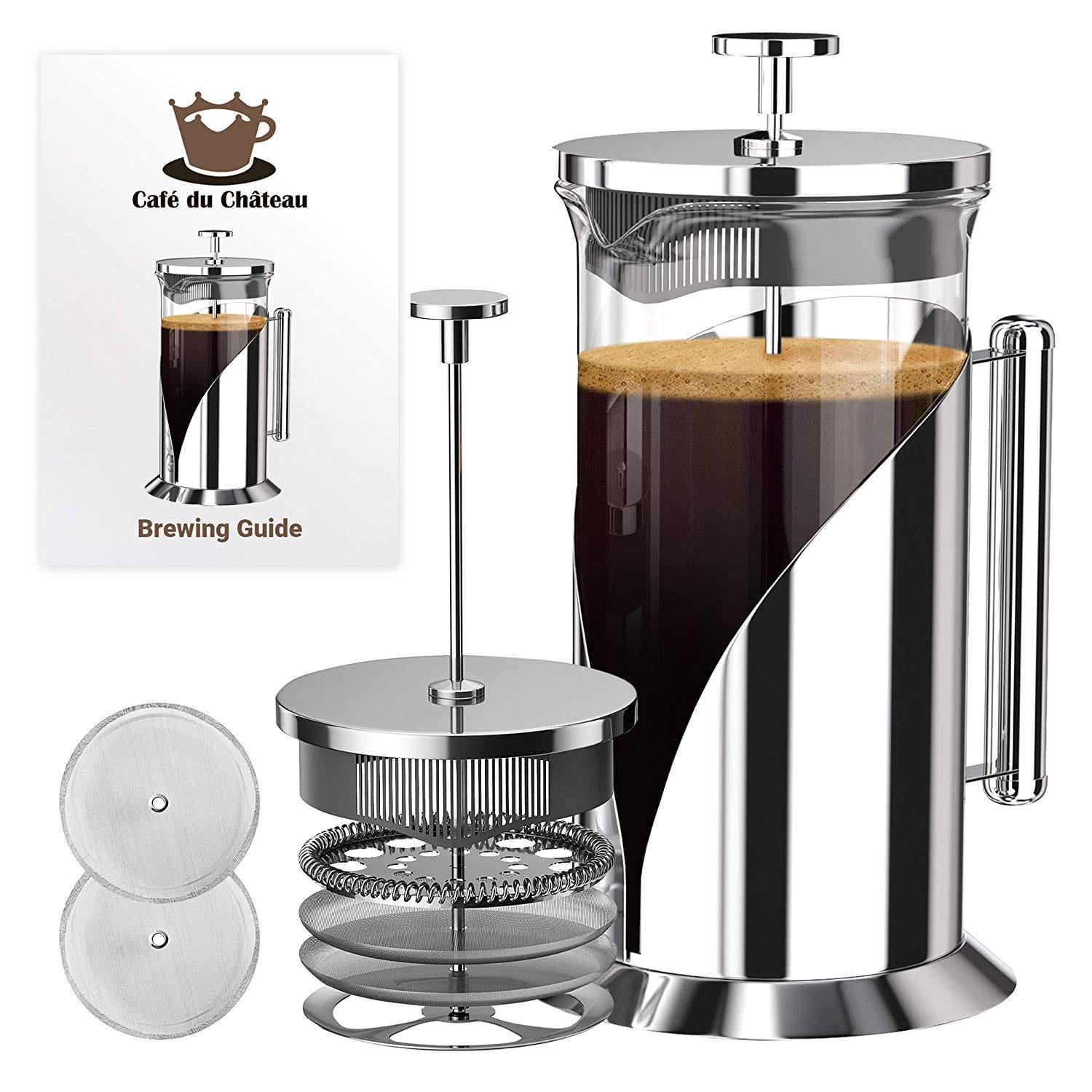 Cafe Du Chateau 34 Ounce French Press Coffee Maker with 4 Level Filtration System. $20.35 (Amazon)