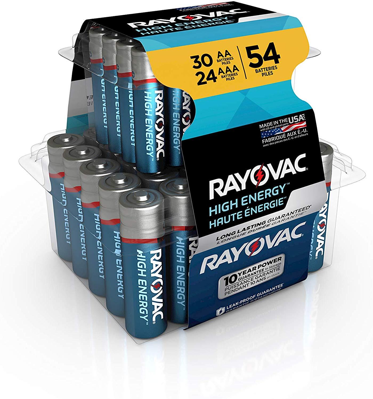 DEAD: 54-Pack Rayovac AA & AAA Alkaline Batteries. $4.74 (Amazon)