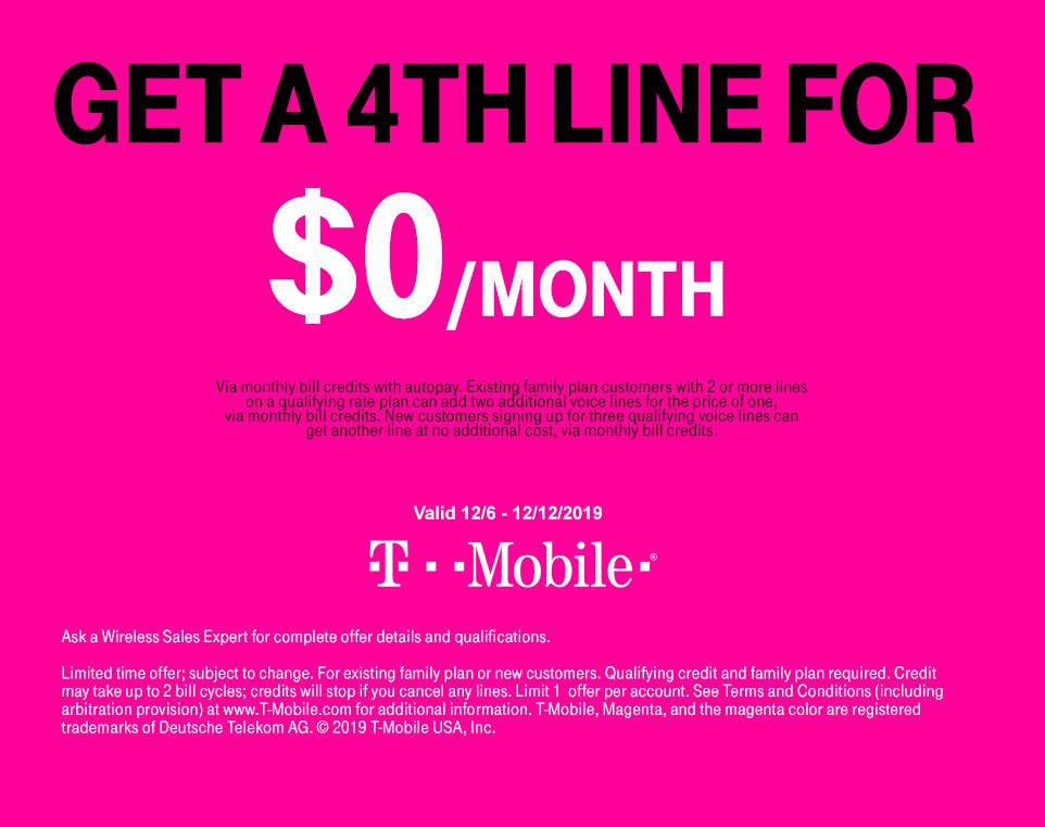 Costco / Tmobile: 4th Line for Free (valid until 12/12)