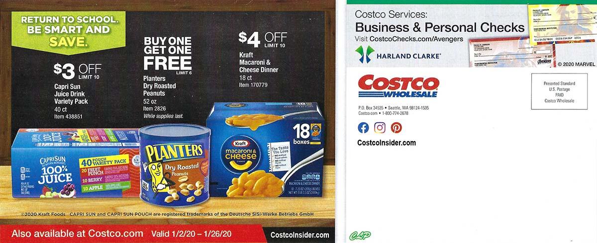 Buy 1 Get 1 Free (BOGO) Planters, Dry Roasted Peanuts, 52 oz. $7.49 Costco (starting 01/02/2020)