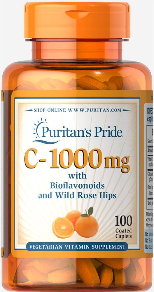 100 Caplets Puritan's Pride Vitamin C-1000 mg with Bioflavonoids & Rose Hips. $3.07 @ Amazon