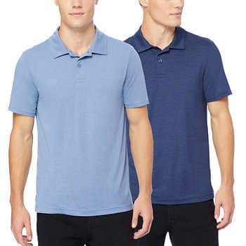 2-pack 32 Degrees Men's Polo Shirts (Size SM-3XL, Colors: Green, Blue, Grey & Purple) $17.99 + FS @ Costco