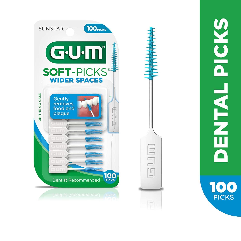 100 GUM Soft-Picks Wider Spaces Dental Picks. $2.50 @ Amazon