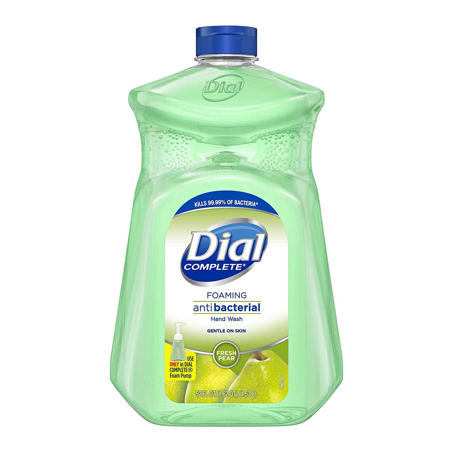 52 Ounce Dial Complete Antibacterial Foaming Hand Soap, Fresh Pear. $6.49 @ Amazon