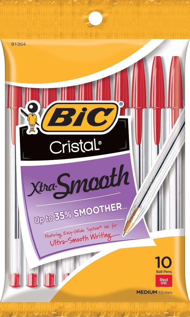 10-Pack BIC Cristal Xtra Smooth Ballpoint Pens. $0.97 @ Amazon
