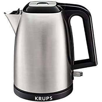 KRUPS BW3110 SAVOY Manual Electric Kettle with Auto Shut Off and Brushed Stainless Steel Housing, 1.7-Liter, Silver For $22.51