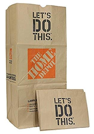 The Home Depot 49022 Heavy Duty Brown Paper Lawn and Refuse Bags for Home and Garden, 30 gal (Pack of 5) For $1.97