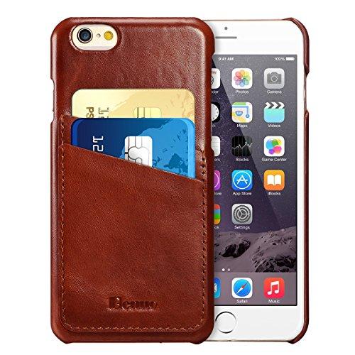 iPhone 6s / 6 Case, Benuo Ultra Slim Genuine Leather Card Case - $5.99 AC+FS