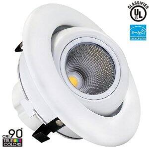 4 inch Dimmable Gimbal Recessed LED Downlight, 75W Equiv Daylight,  $16.84 AC + FS (Prime) @ Amazon