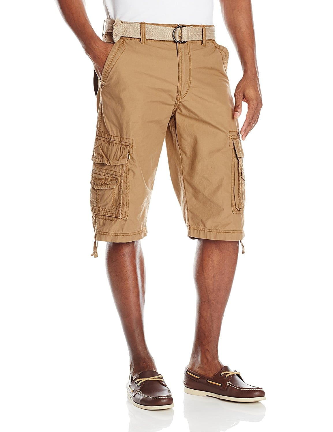 Amazon - Unionbay Men's Cordova Belted Messenger Cargo Short - Field Color - $7.82 - Size 50