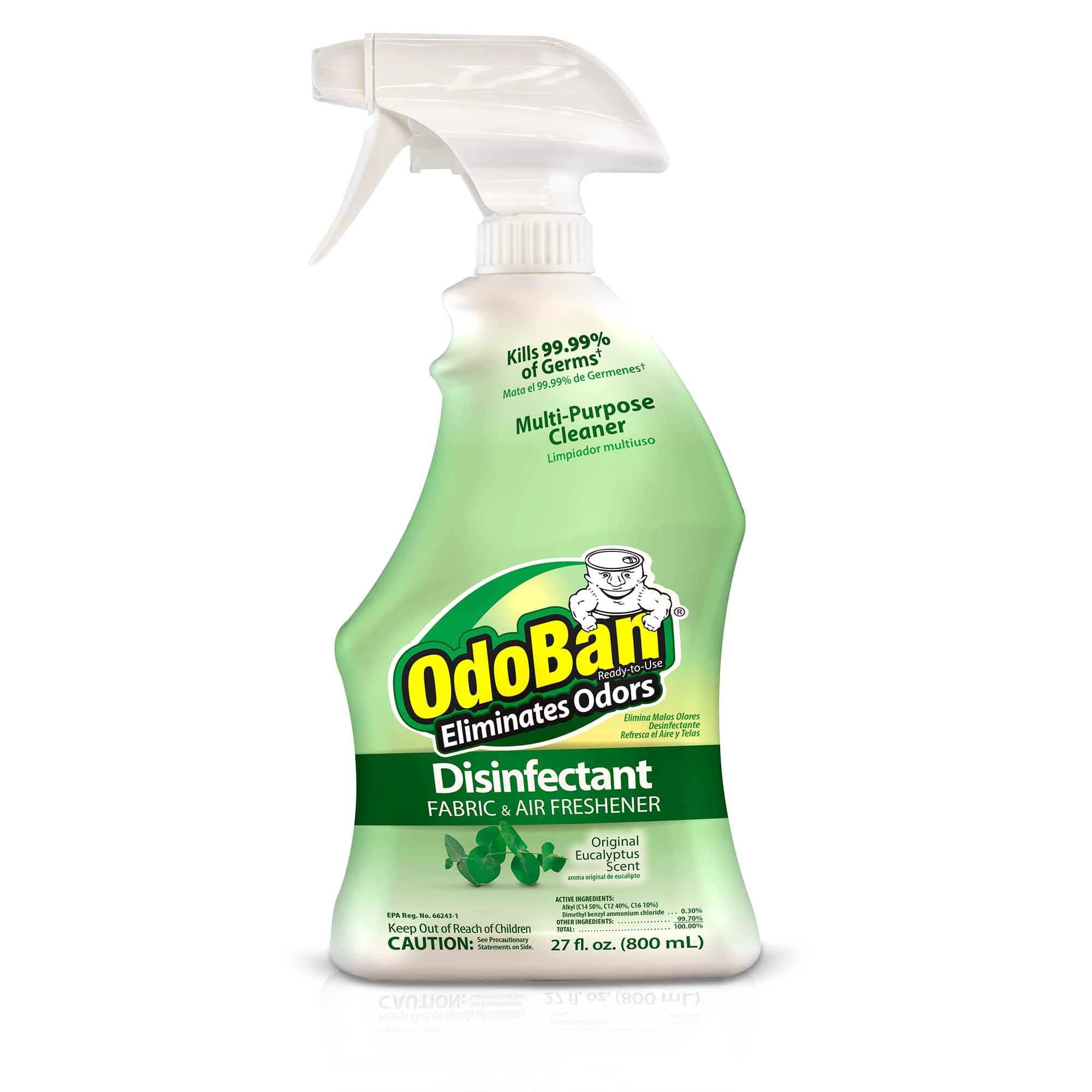 OdoBan Original Eucalyptus Scent Disinfectant Fabric & Air Freshener, 27 fl oz $2.72(YMMV)