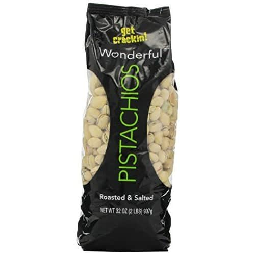 $9.98 /w S&S Wonderful Pistachios, Roasted & Salted, 32 oz Bag