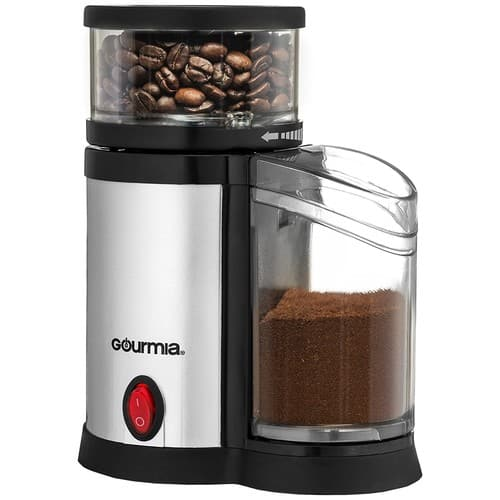 $23.95 Gourmia GCG165 Compact Electric Burr Coffee Grinder - Adjustable Coarse Grind Size