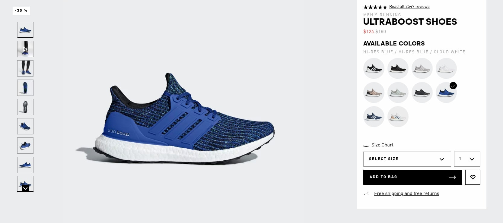 a2448a77c Hi-res Blue Adidas Ultraboost shoes  126 - Slickdeals.net