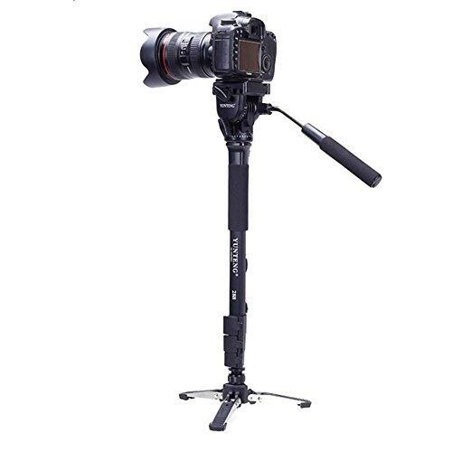 $39.74 (13% OFF) Yunteng Tripod/Monopod With Fluid Pan Head Quick Release Plate And Unipod Holder for DSLR Cameras