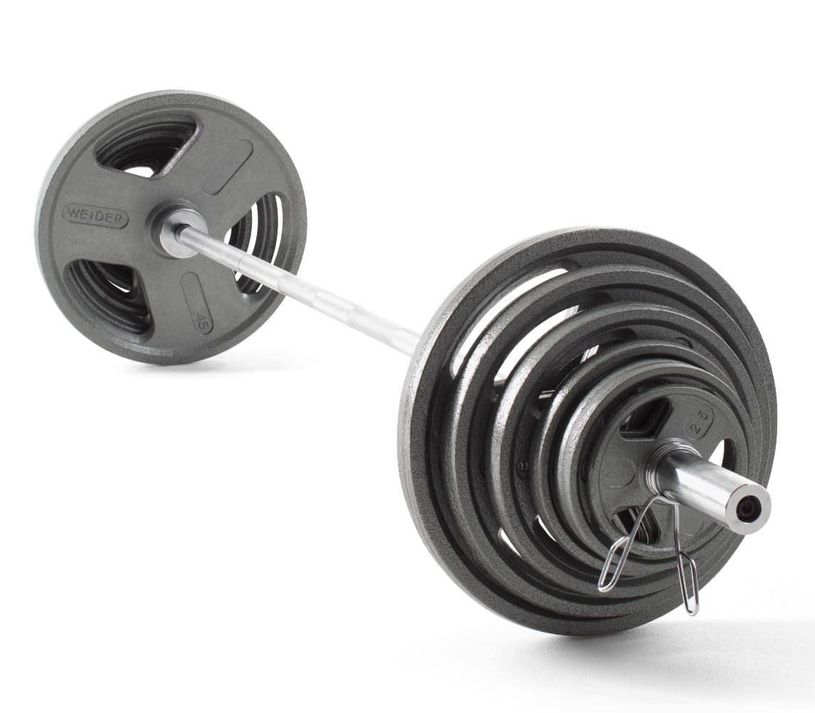 Weider Cast Iron Olympic Hammertone Weight Set, 210 Lb. $199.99 + FS