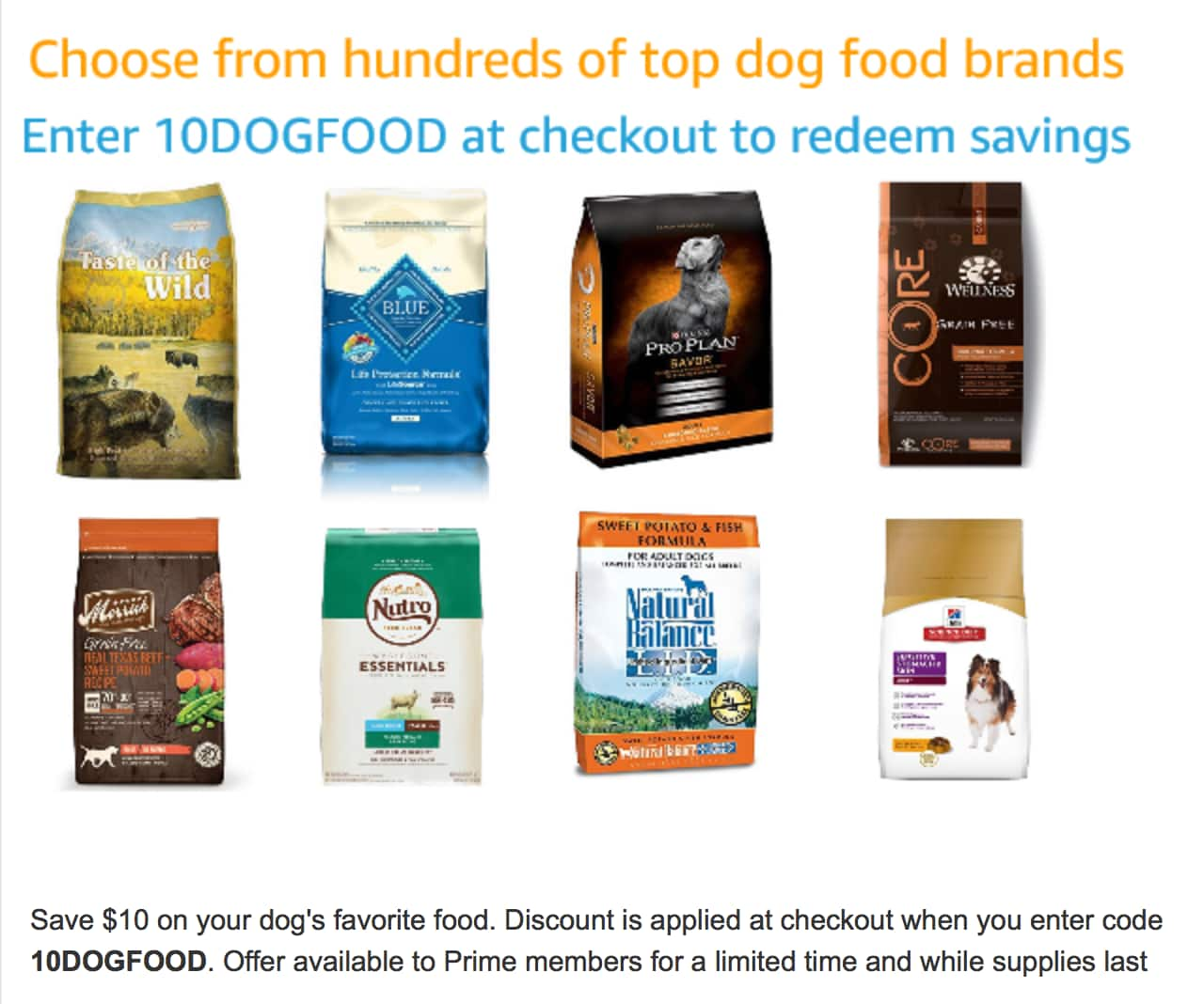 Save $10 on Dog Food at Amazon