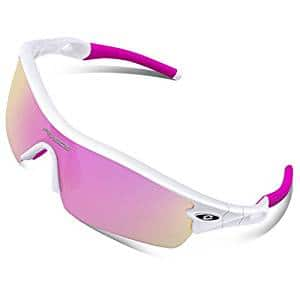 40% off RIVBOS 805 POLARIZED Sports Sunglasses Glasses + 5 Set Interchangeable Lenses for Cycling $15.59