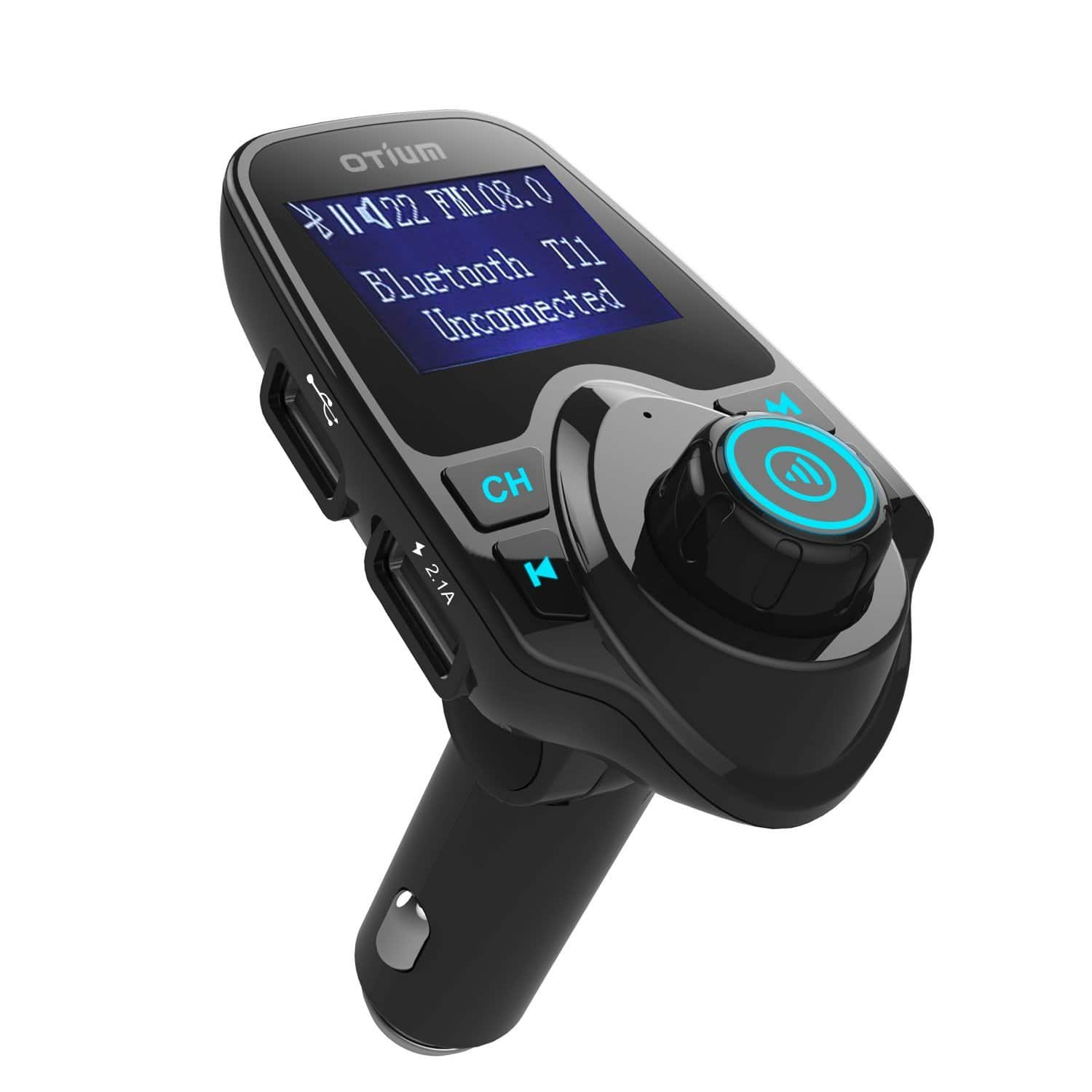 Amazon - FM Transmitter with Dual USB Car Charger Ports $12.99 AC