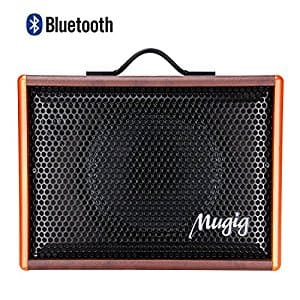 Mugig Guitar Speaker for Acoustic Guitar and Ukulele, Vocals Amplifier BM25, Portable Charger Outdoor Playing and Singing Bluetooth Speaker $64.99