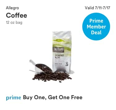 Prime Member Deal: Allegro Coffee 12-oz bag BOGO at Whole Foods (in-store only) 7/11-7/17
