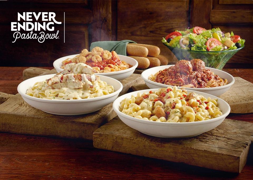 Olive Garden - Never Ending Pasta Bowl is back! Starting at $10.99