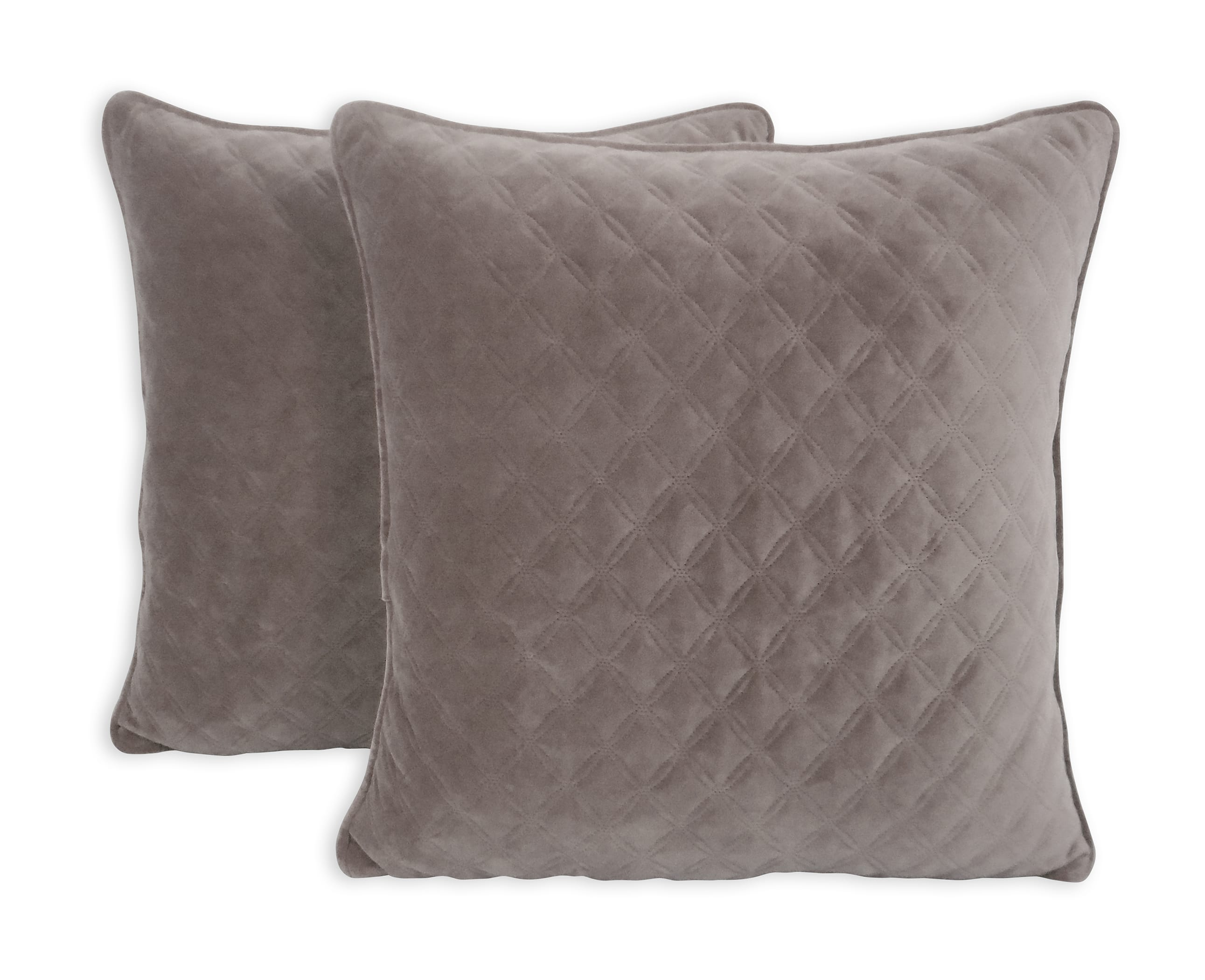 """Better Homes & Gardens Quilted Velvet 19"""" x 19"""" Decorative Throw Pillow, 2 Pack, Select Colors $12 (Reg. $19.88)"""