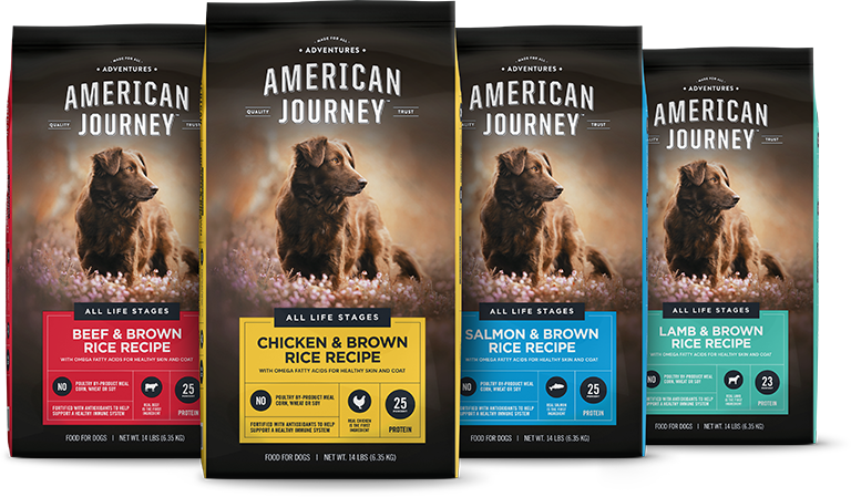 American Journey Chicken & Brown Rice Recipe Dry Dog Food 28lb $14.99