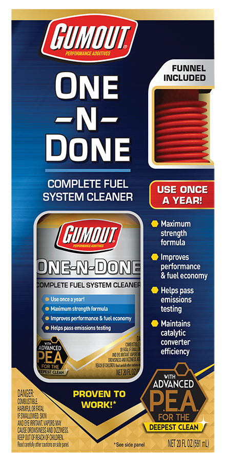 Gumout One and Done Free after online rebate! $19.88 Value