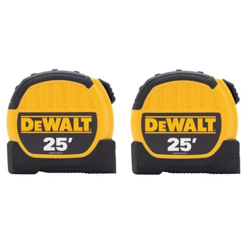 DEWALT 25 ft. Tape Measure (2-Pack) $14.97 - In Store Only - Call Ahead