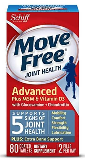 Move Free Advanced Glucosamine Chondroitin MSM Vitamin D3 and Hyaluronic Acid Joint Supplement, 80 ct $12.99