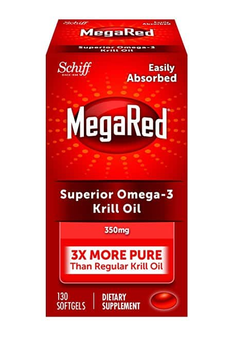 MegaRed 350mg Omega-3 Krill Oil, 130 softgels [130 Count - 350 mg] $18.03