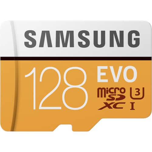 Samsung 128GB EVO Class 10 Micro SDXC Card for $22 @ B&H Photo $21.99