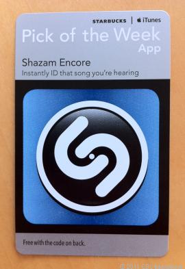 *FREE* Shazam Encore (iPhone) w/ trip to Starbucks (Starting August 23)