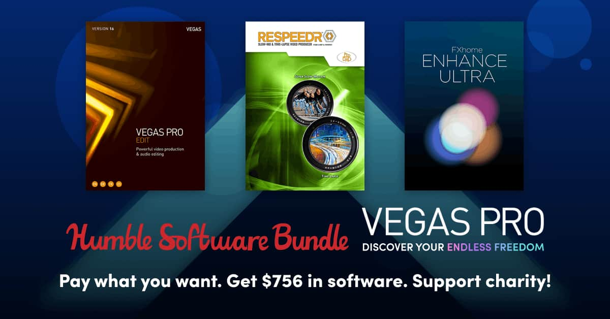 Humble Software Bundle: VEGAS Pro 16, SOUND FORGE, Music Maker From $1 & More