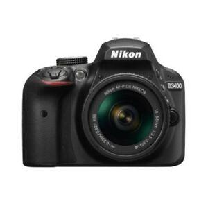 (refurbished grade A) Nikon D3400 Digital SLR Camera with 24.2 Megapixels and 18-55mm Lens $218.53