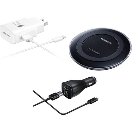 Samsung Fast Charge Power Package with Wall and Car Charger $39.99