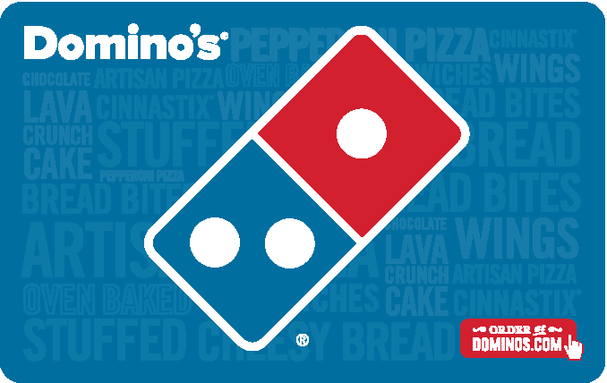 Save $5 on a $50 Dominos Gift Card $45