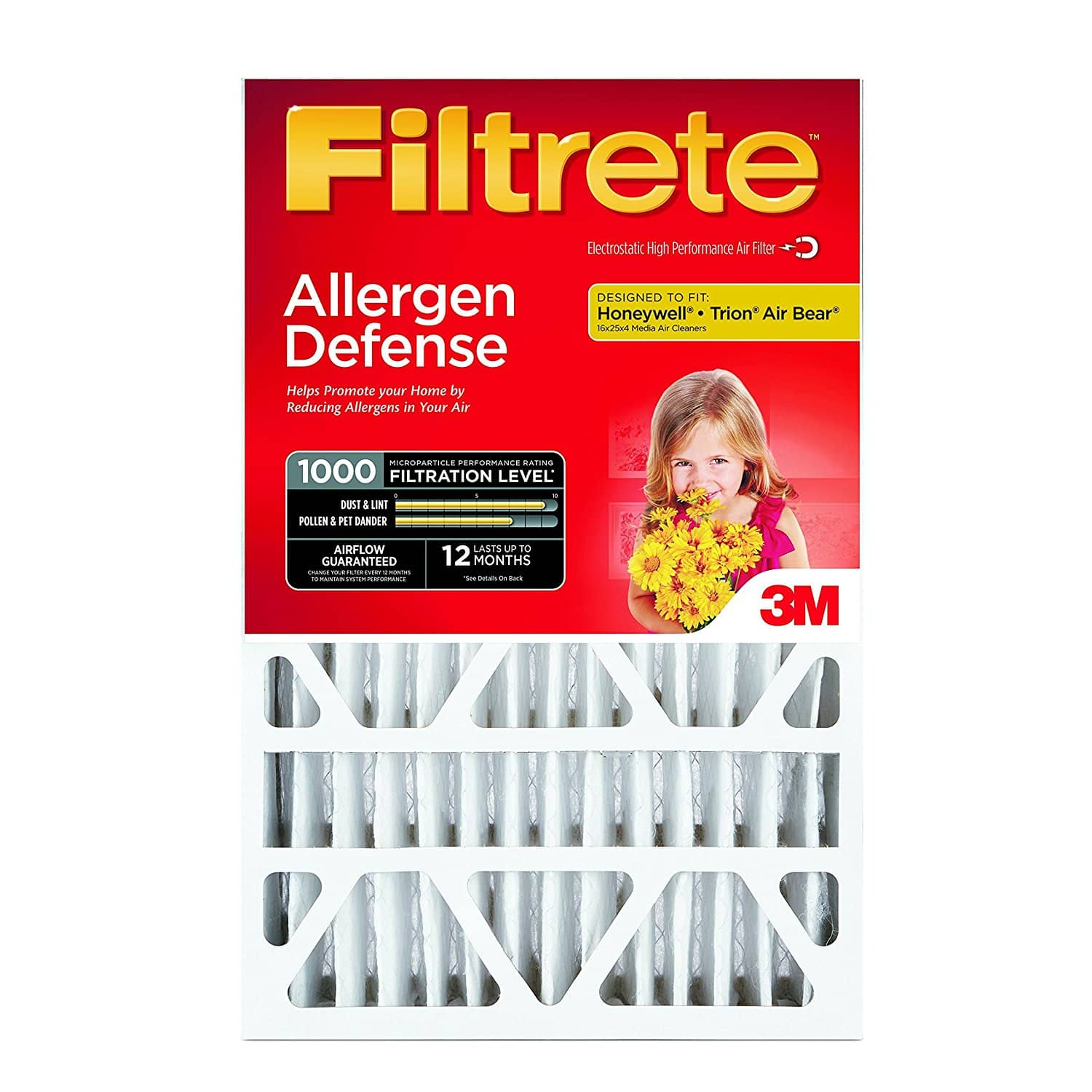 Filtrete MPR 1000 20 x 25 x 4 Micro Allergen Furnace Air Filter, 4-Pack - $40 @ Amazon Free Shipping