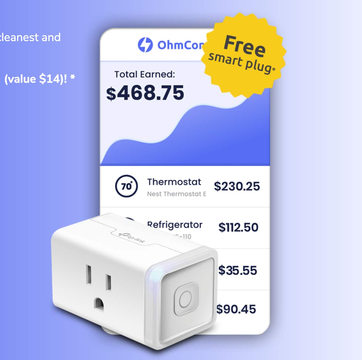 Free TP-Link Smart Plug (New OhmConnect Users Only - Valid in Select California Cities)