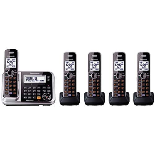 Panasonic KX-TG7875S Bluetooth Cordless Phone with 5 Handsets - Amazon - $98.99