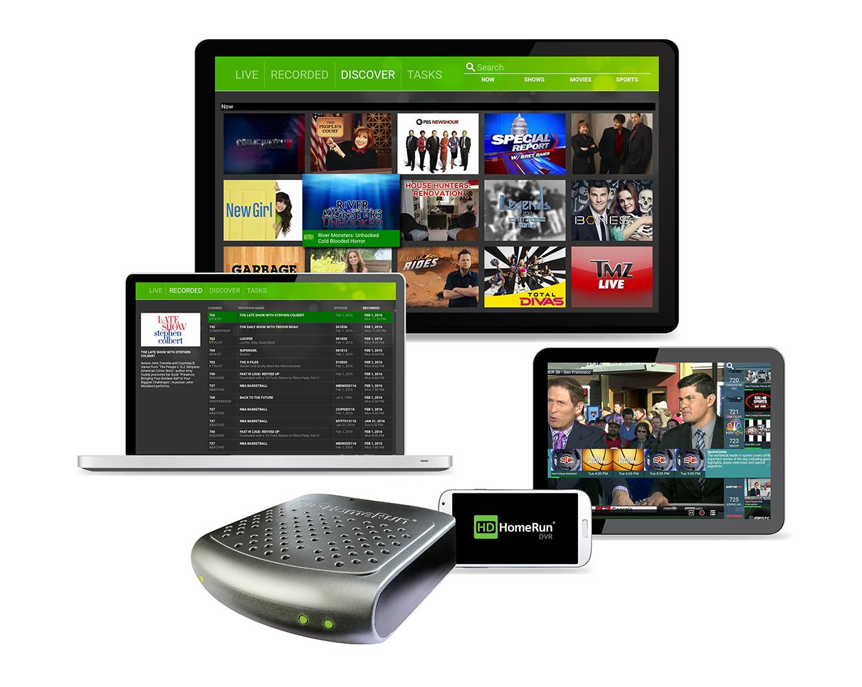 HDHomeRun - CONNECT DUAL OTA DVR - Gray and Black $74.99