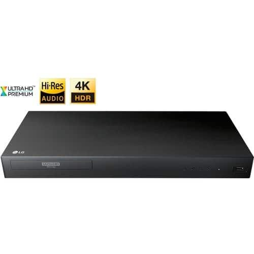 LG - UP875 4K Ultra HD 3D Blu-ray Player - Black $99.99