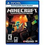 Minecraft for Vita(digital voucher version)-$5.98 @ Target(IN-STORE ONLY)-INCLUDES PS3 version w/ code redemption