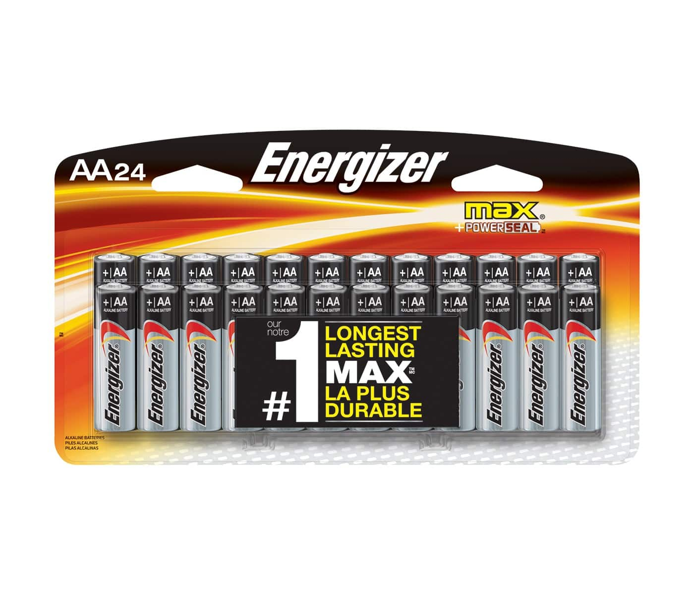 Energizer Max 24 pack of AA batteries - as low as $4.18 in store @ Target B&M YMMV